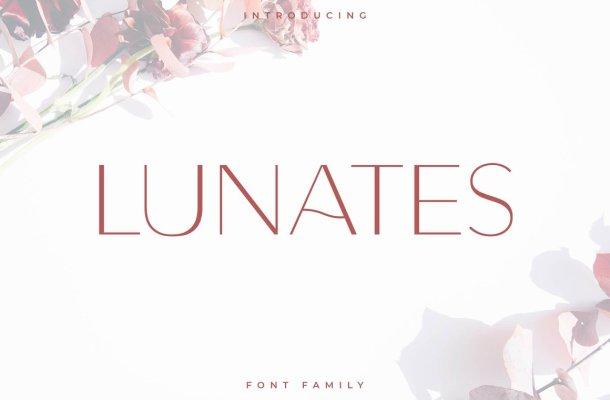 Lunates Font