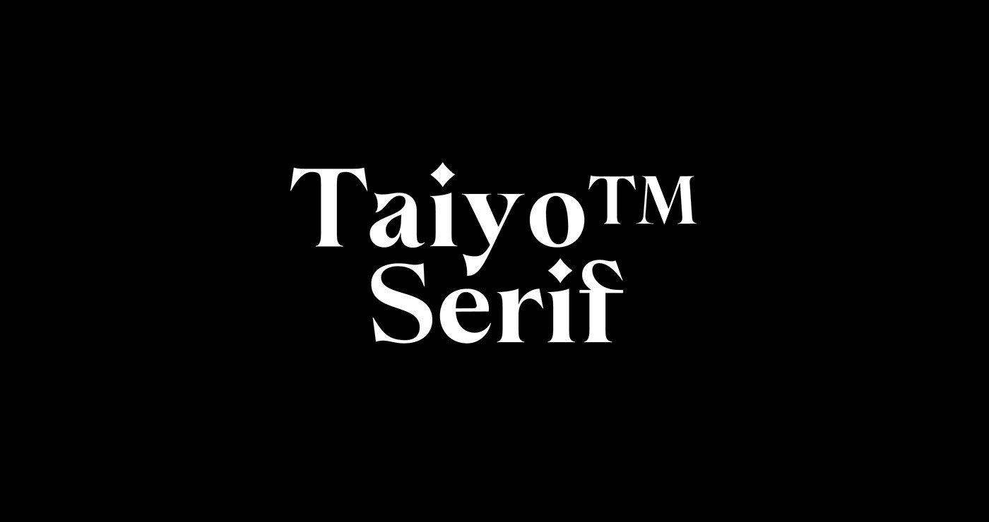 Taiyo Serif Font