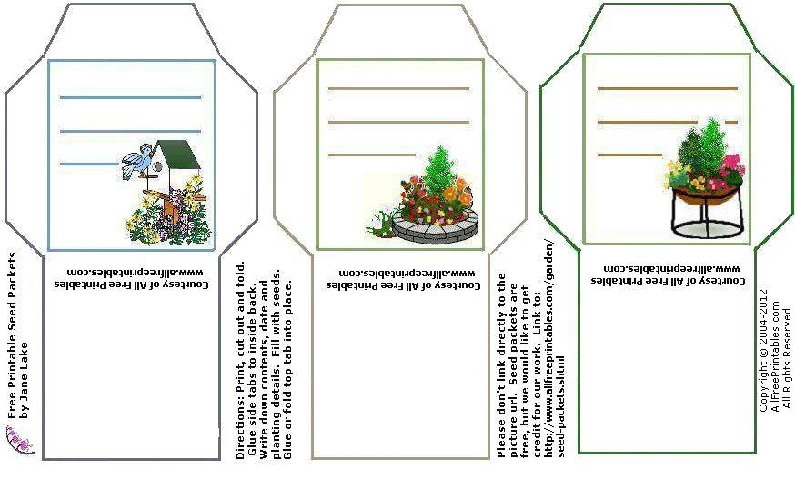 photo about Free Printable Seed Packets titled Printable Seed Packet Template. printable template of seed