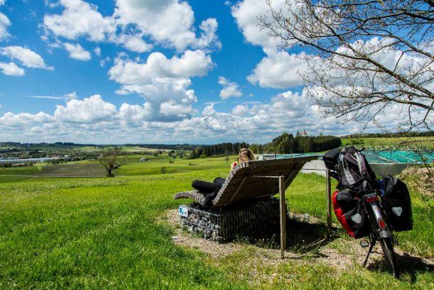Tolle Sicht über Ottobeuren entlang der Radrunde Allgäu