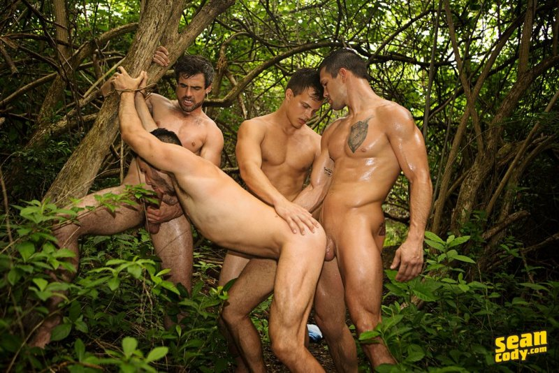 Raw Gay Outdoor Foursome 01