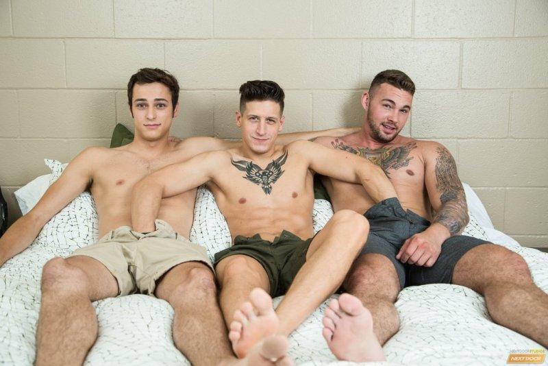 Three Hot Horny Guys Fuck Raw 01