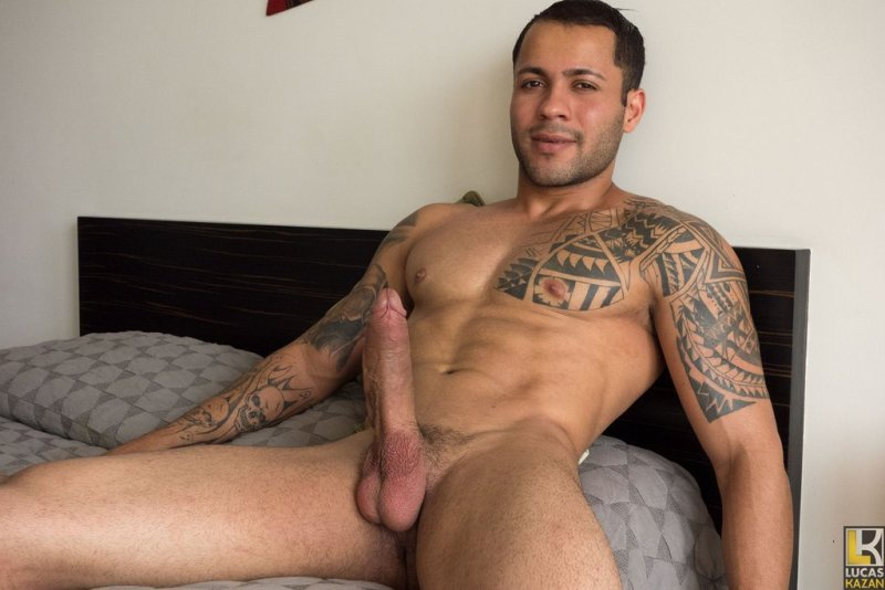 Sexy Brazilian Jerks His Huge Dick 07