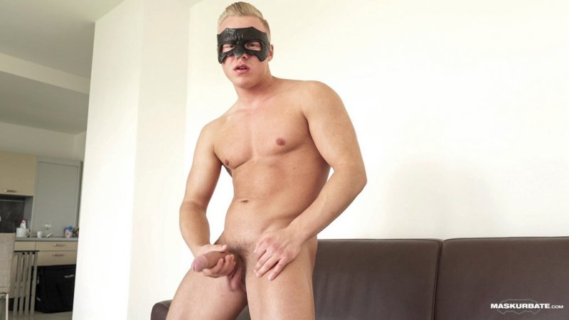 Blond Hunk Jerks his Uncut Cock 07