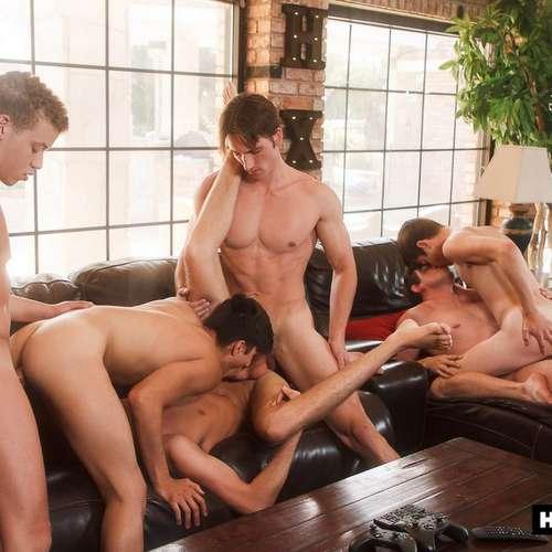 six hot boys fuck raw