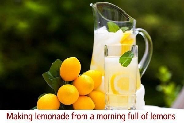 When life hands you lemons make lemonade