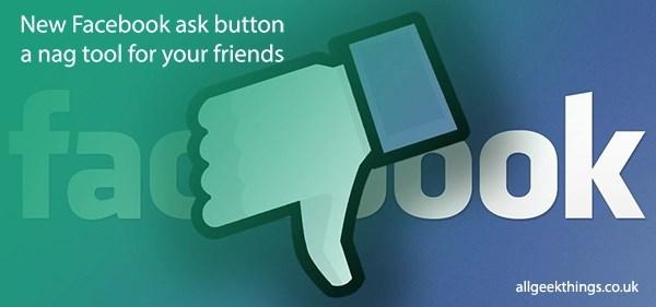 new facebook ask button