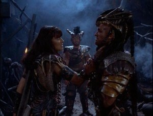 The Gauntlet Darphus and Xena face off