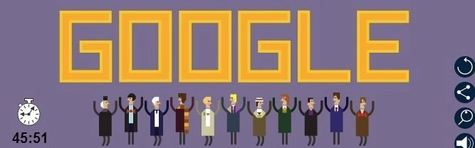 Dr Who 50 Anniversary Google doodle