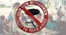 Erstes Münchner Kellnerinnen Take Away seit gestern abend dicht