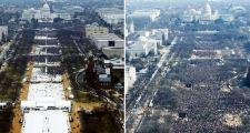 Wurden Trump-Fans bei dessen Amtseinführung per Photoshop beseitigt?