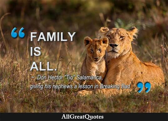 Family Quotes  Famous Family Quotes   AllGreatQuotes family is all quote from breaking bad
