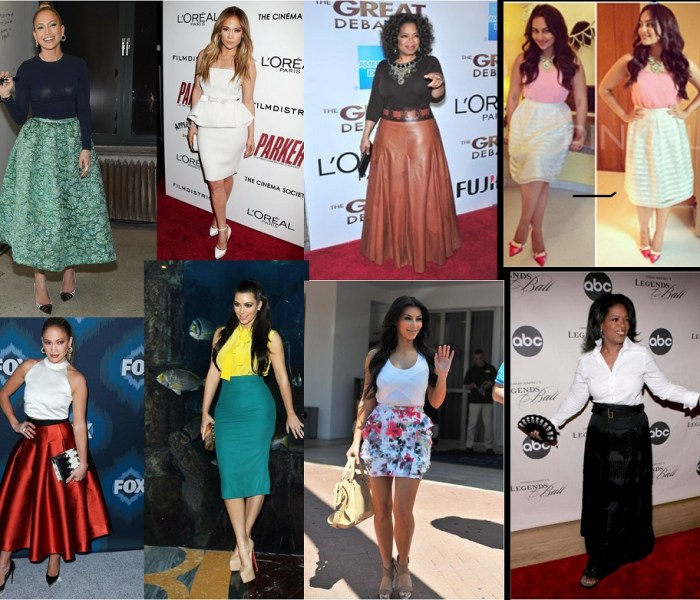 Who says the plus size cannot wear Skirts?