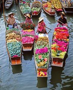 Damnoen Sadauk Floating Market - bangkok trip