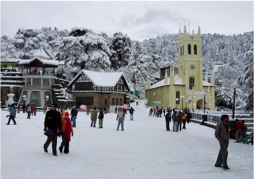 Shimla Ridge - Snowfall in Himachal