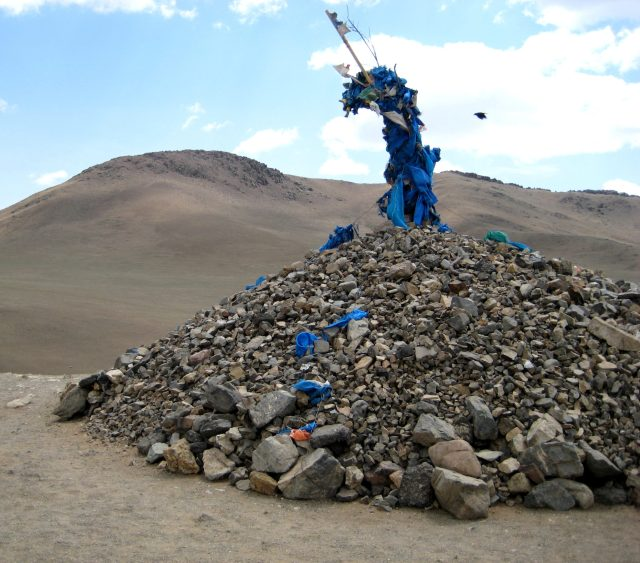 Mani Stone Mound - The sacred Tibetan Prayer Mani Stones