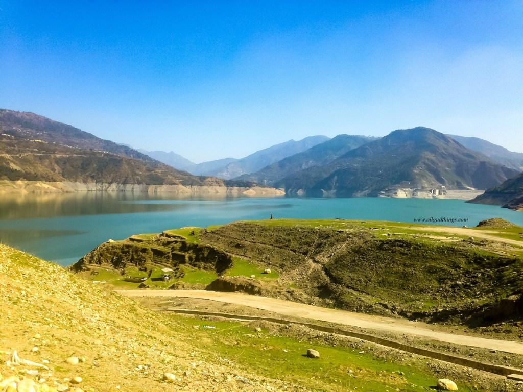 Tehri Lake near Tehri Dam in uttarakhand