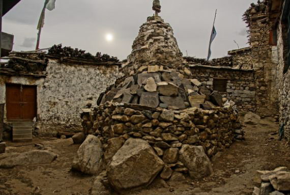 Stone Mound at Nako Village, Himachal Pradesh