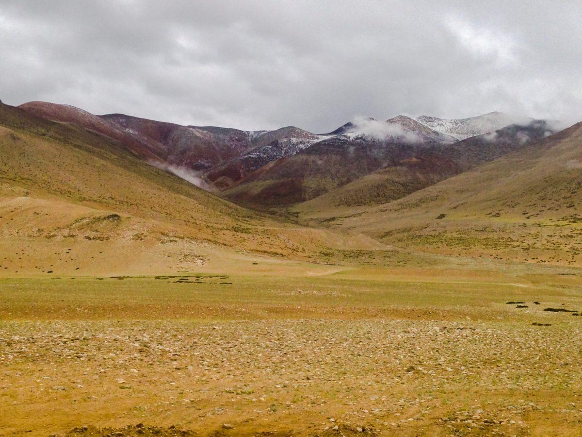 Stacked Coloured Mountains on the Southeastern side of White Lake Tso kar