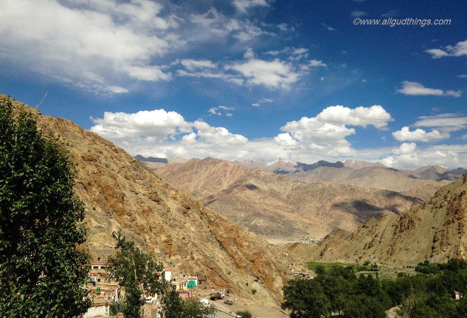 View from Hemis Monastery Terrace