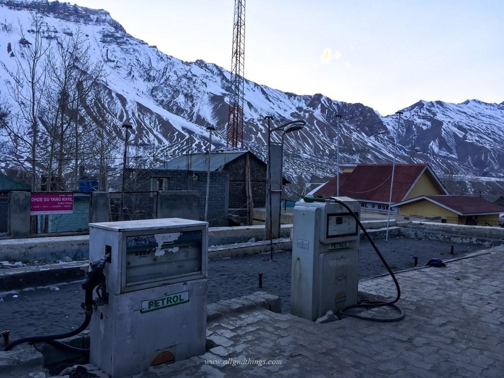 Fuel Station at Kaza - Winter Spiti Trip
