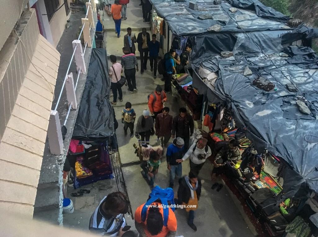 Evening view of Gaurikund Market