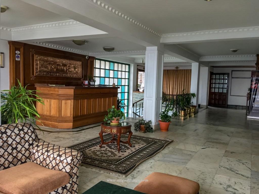 The Lobby of Hotel Chumbi Residency in Gangtok
