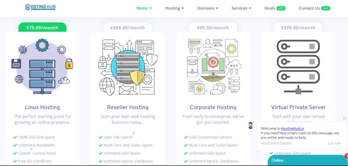 HostingHub India Ka Cheap / Low Price Hosting Rs.50/Month