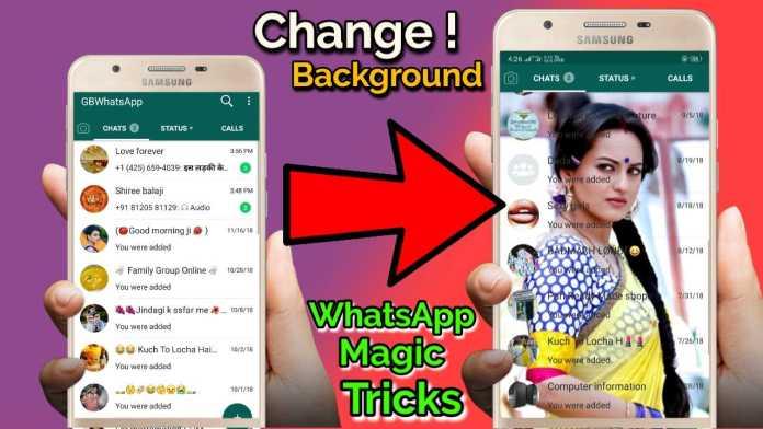 Change GBWhatsapp Home Screen Background ?