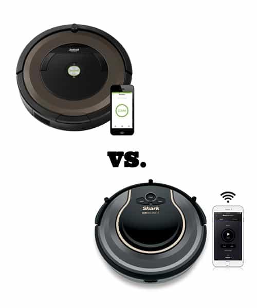 Shark Ion Robot 750 vs. Roomba 890