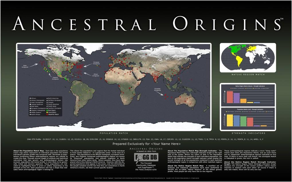 Ancestral Origins Map