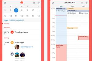 Capture d'écran de l'application calendrier de Sunrise sur Itunes
