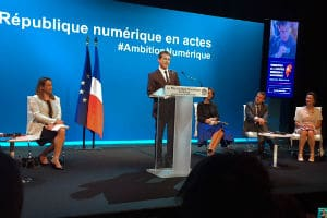 Manuel Valls a présenté la stratégie numérique du gouvernement jeudi 18 juin 2015 à la Gaîté lyrique. © Charlie Perreau