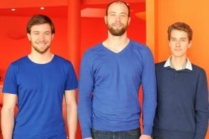 De gauche à droite : Philippe Wagner, Maxime Wagner, Pierre Gielen les fondateurs de Captain Contrat © François Tancré
