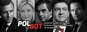 PolBot aborde les questions politiques sur un ton léger. ©Conversationnel