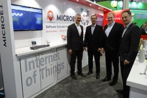 En janvier 2016, MicroEJ et Lacroix Electronics signaient un accord de partenariat afin d'accélérer le développement et la production d'objets connectés et produits électroniques embarqués pour le marché européen. Ici, des représentants des deux entreprises.