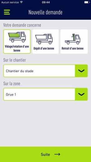 L'application, destinée aux clients existants de SUEZ recyclage et valorisation France, leur permet de gérer l'ensemble de leurs déchets de chantier.