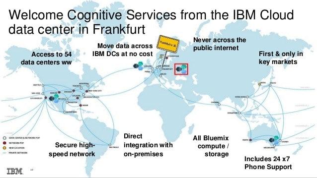Le RGPD impose d'avoir une visibilité sur l'endroit où sont stockées et traitées les données. C'est pourquoi IBM a fait évoluer, fin 2017, sa plate-forme cloud hébergée à Francfort (Allemagne).