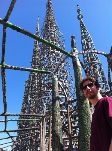 Dwarfed By Watts Towers
