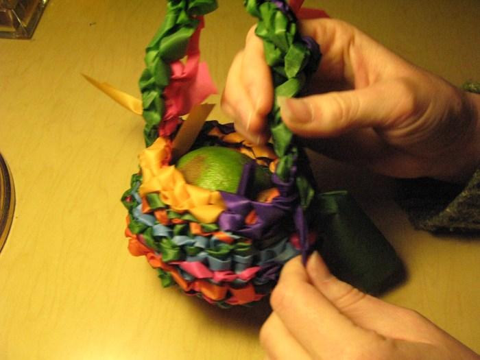 Handmade Crocheted Scrap Basket