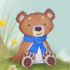 cute illustration of a bear