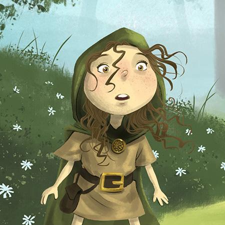 stylised illustration of Robin Hood