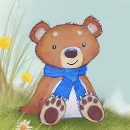 cute illustration of a bear