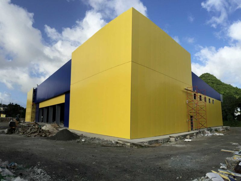 Unicomer Courts Store Warehouse Allied Steel Buildings
