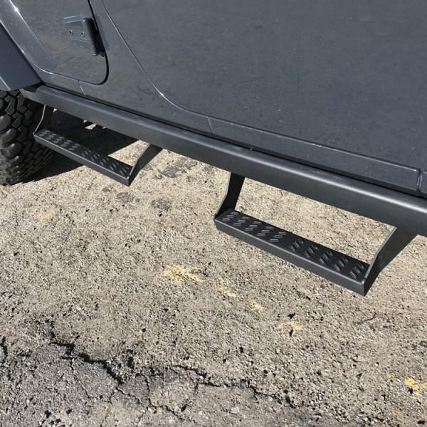 Jeep Rubicon Slider Steps Installed