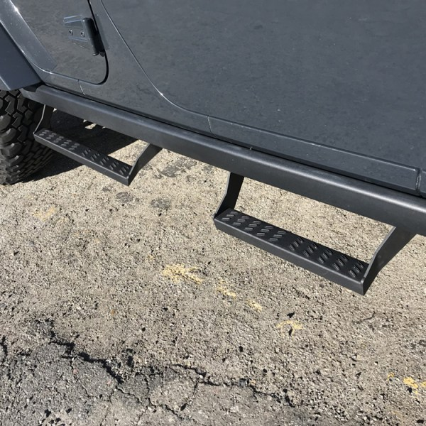 Jeep Rubicon Slider Steps Installed