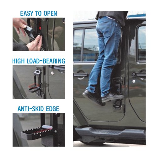 Jeep JK Collapsible Hinge Steps Collage