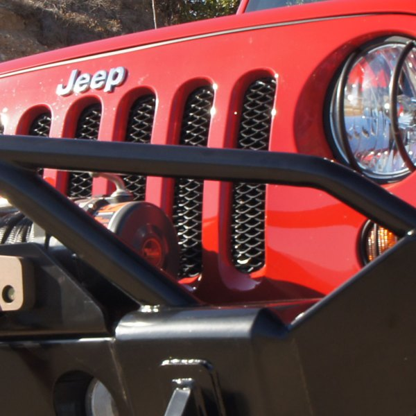 Jeep JK Grille Insert Installed