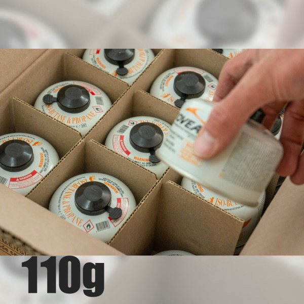 Screw-On Style Isobutane Canisters 110g :: Allied Expedition