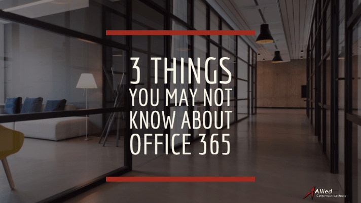Office 365 Allied communications